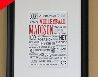 Personalized Sports Print- Volleyball