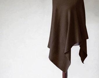 Brown poncho, Knit poncho, sweater wrap, wool scarf, women sweater, wool cape, wool sweater, knit cape,knit scarf,knit sweater,women fashion