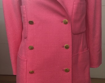 Chanel Hot Pink Long Jacket