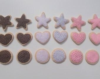Felt food sugar cookie set