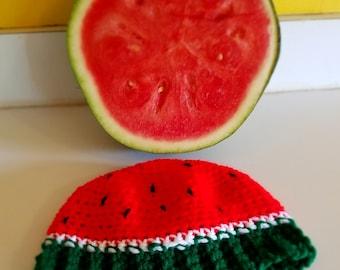 PDF PATTERN ONLY Crochet Watermelon Hat