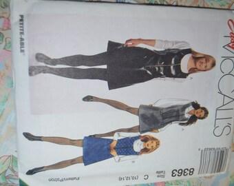 McCalls 8363 Miss Jumper Sewing Pattern - UNCUT - Sizes  10 12 14