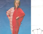 Vintage Teens Juniors Starfish Jumpsuit Burda 4726 Sewing Pattern Size 10 12 14 16 Sleeper Pajama Stretch Knits Only Uncut