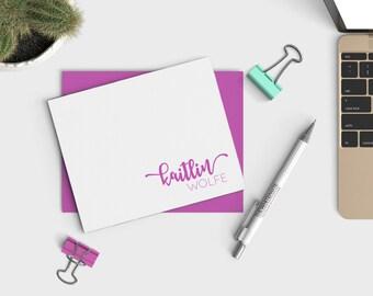 Personalized Stationery Set - Name Stationary - Custom Notecard Set