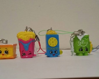 Shopkins cell phone charms and zipper charms season 2,3,& 4