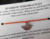 Sparrow Bird - Wish Bracelet - Choose your color