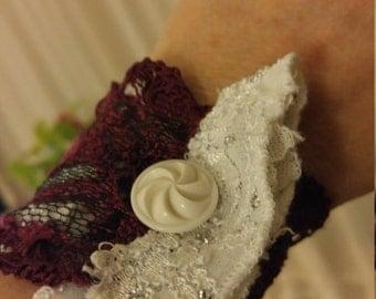 Handmade lacey wristlet