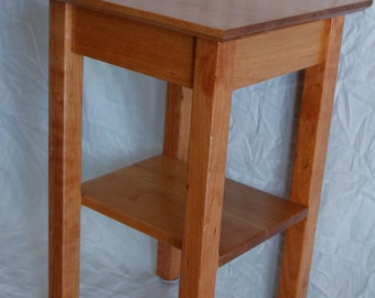 Cherry Table with Shelf for Jeff