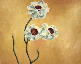 Three White Blossoms