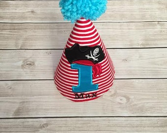 Pirate Baby Boy Birthday Party Hat