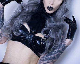 Lady D Silver - Long Wavy Full Wig