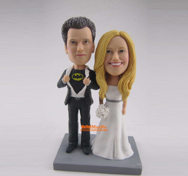 batman cake topper wedding cake topper custom bobblehead cake. Black Bedroom Furniture Sets. Home Design Ideas