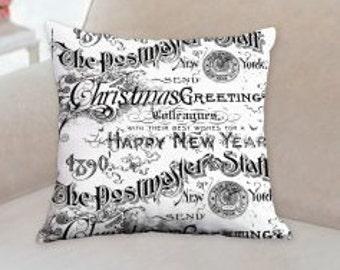 Designer Postmaster Christmas Pillow