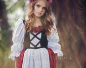 RESERVED LISTING Little Red Riding Hood Costume Princess Peasant Dress