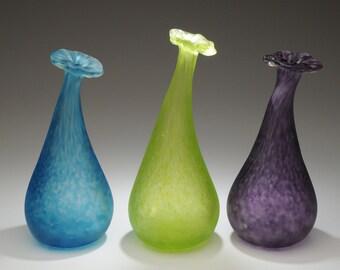 Blown Glass Bud Vases