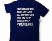 Disney Vacation Shirt - Disney Memories Priceless - Unisex Shirt Sizing
