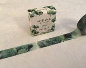 "Deep Green Leaves Washi Tape - Seasons Color - 15 mm x 7 m (5/8"" x 7.6 yds) - Inspired by Japanese Iroshizuku Ink Shin-Ryoku"