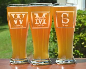 Groomsman Gifts, 22 Personalized Pub Glasses, Groomsmen Beer Glasses, Custom Beer Glass, Beer Stein, Wedding Party Favor, Gift for Groomsman