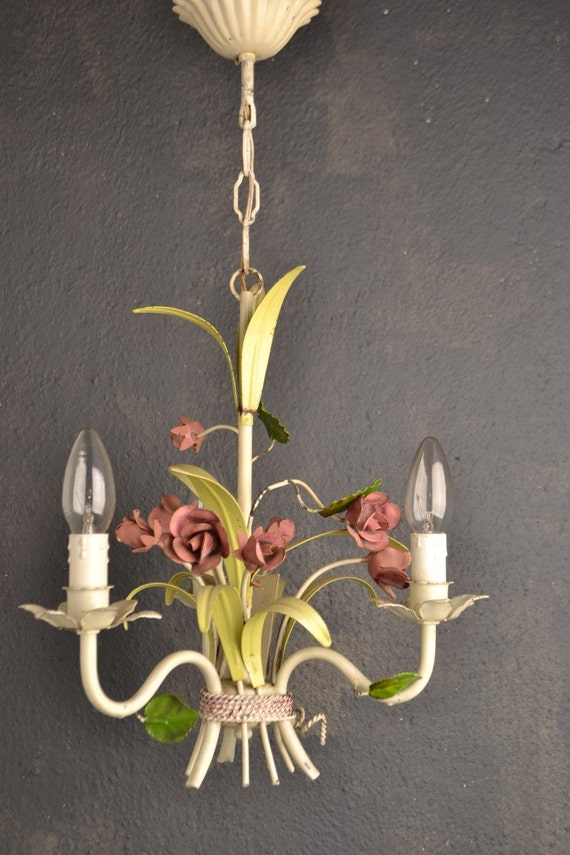 Beautiful toleware flower chandelier