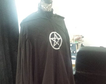 Custom Handmade Hooded Ritual Robe 100% Cotton ~ Ritual Robe LARP Cosplay Witchcraft Wicca Star Wars Jedi Robe