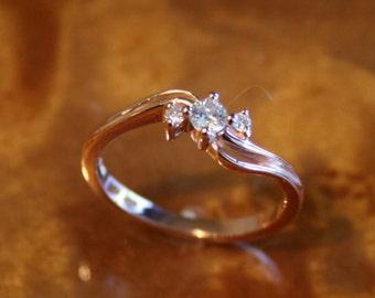 Diamond 3-Stone Ring in 14K Rose Gold