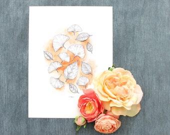 Amber Leaves Print