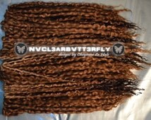 "Wool & Silk Dreads - 40DE ""Honey"" 16""-20"" (Total Length = 32""-40"") Blonde, Brown, Golden Ombre Dreadlocks"