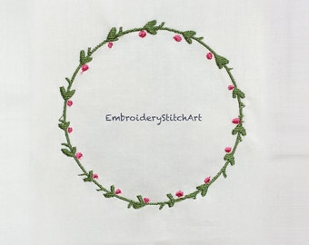Holly Plant Machine Embroidery Design Christmas Wreath Machine Embroidery Pattern Cherry Patterns Christmas Wreath Design Embroidery Needle