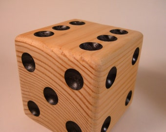 Natural Finished Lawn Dice** Lawn Dice** Outdoor Lawn Game** Single Die