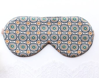 Gray Sleep Mask, Vintage inspired Sleep Mask, Beige Sleep Mask, Bohemian Sleep Mask, Mint Sleep Mask