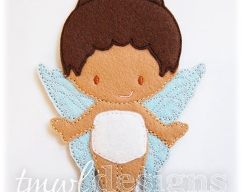 Tawny Fairy Felt Paper Doll Toy Digital Design File - 5x7