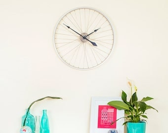 Large Wall Clock, Bicycle Wheel Clock, Bike Wheel Clock, Bicycle Clock, Bike Wall Clock, Unique Wall Clock, Gifts for Cyclists, Gift for Him