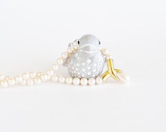 NAPIER Golden Drop Faux Pearl Necklace
