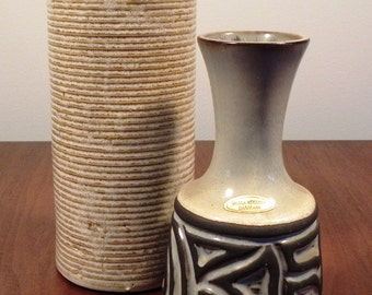 Vintage Mid Century Pottery Vases - Sold as a Set.