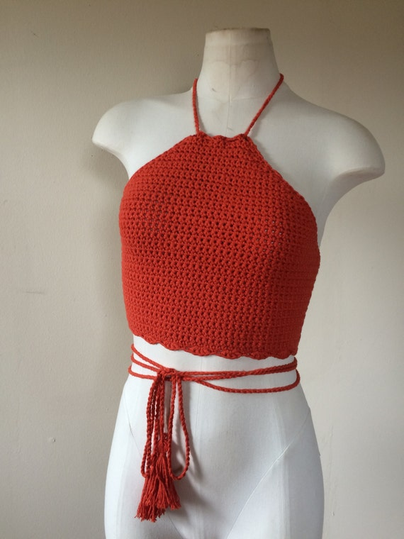 Crochet Halter Top. Crochet crop top. Festival top. Summer top ...