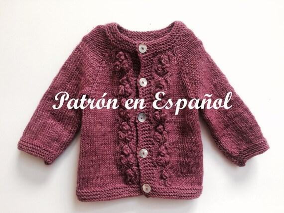 Knitting Crochet In Spanish : Girl sweater knitted pattern knitting