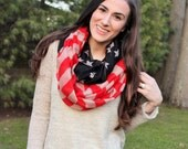 2 days only SALE - American Flag Scarf, summer scarf, infinity scarf, 4th of July scarf, red white and blue scarf for women
