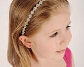 Rhinestone Flower Girl Headpiece - Wedding Headband - Flower Girl Headpiece - Bridesmaid Headband - Prom Headband - Infant Photo Prop