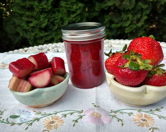 Oregon Strawberry Rhubarb Jam, Small Batch, Handcrafted, Naturally Grown, Oregon Pacific Northwest