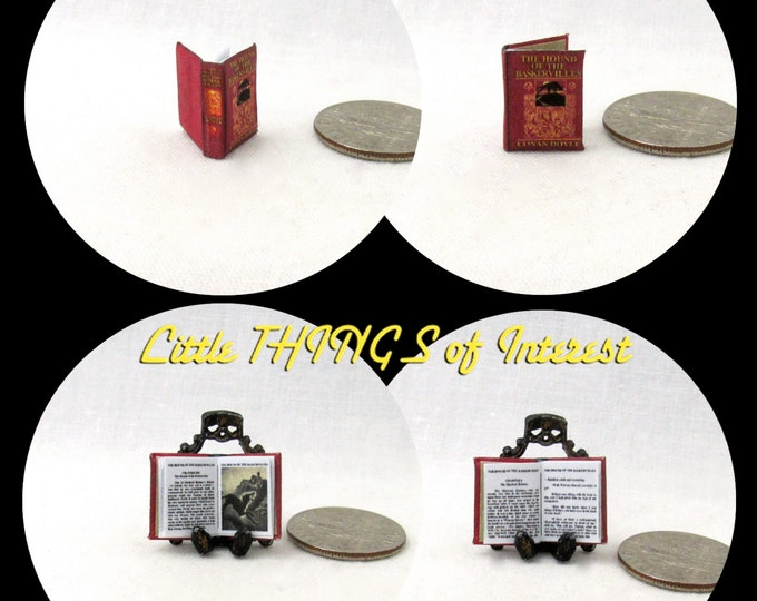 1:24 Scale Book THE HOUND Of The BASKERVILLES Dollhouse Miniature Book