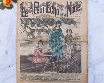 Vintage French Fashion and Home Magazine Le Petit Echo de la Mode 1920 #31