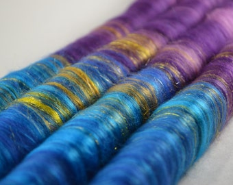 Sweet Rolls - Rolags hand blended for spinning - 1 oz increments - River Aare Mists