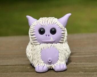 Nipsy the Purple Yeti - Cute Polymer Clay Monster Figures