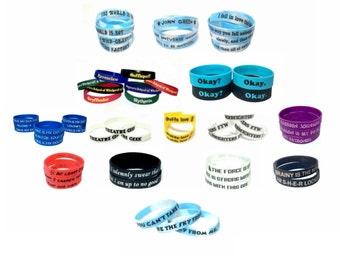 Pick 5 Save 5 Silicone Bracelet Pack