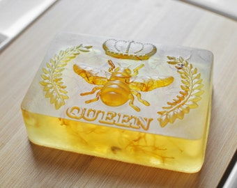 5 Queen Bee Soap / Honey Bee Soap made with Honey