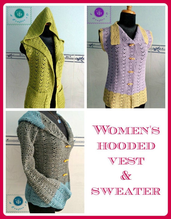 Women  39 s Hooded Vest  amp  Sweater pdf