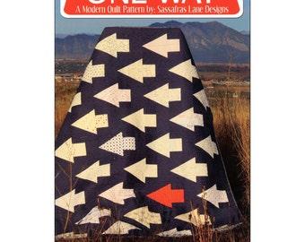"""Pattern  """"One Way Arrow Quilt"""" by Sassafras Lane Designs (SASSLN0028) Paper Pattern"""