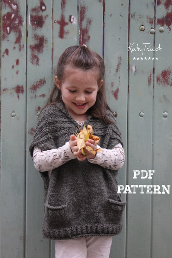 Knitting Pattern COMFORT VEST Child and Adult Sizes