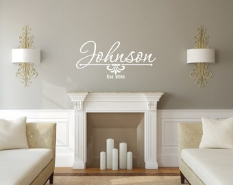 Family Name Decals - Name Wall Decal - Monogram Wall Decal - Last Name Decal - Family Name Decal - Family Decor - Wall Decor