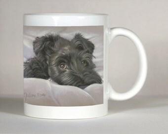 Schnauzer Mug, Black Schnauzer Mug, Customized Schnauzer,  Schnauzer Gift